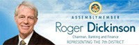 Assemblymember Roger Dickinson logo