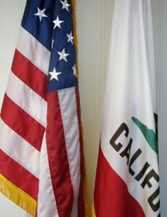 Flags of the State of California and the United States